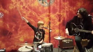 Kid drummer Logan Robot Gladden plays Nothin' To Lose with KISS! Durant, Oklahoma - 1/29/16