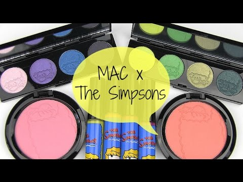 MAC The Simpsons Collection + GIVEAWAY: Live Swatches & Review