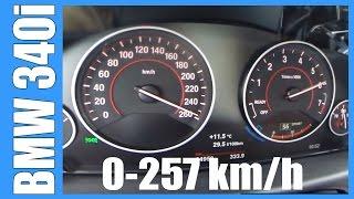 2016 BMW 340i F30 Acceleration 0-257 km/h 326 HP Beschleunigung Autobahn Sound Onboard