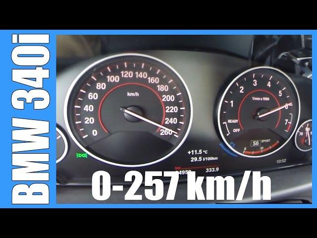 2016 BMW 340i F30 Acceleration 0-257 km/h 326 HP ...