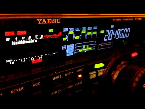 Ham Radio DX QSO FM5BH Yaesu FT-950 10 Meters SSB