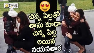Nayanthara Fun with Kid on Movie Sets : Cute Video