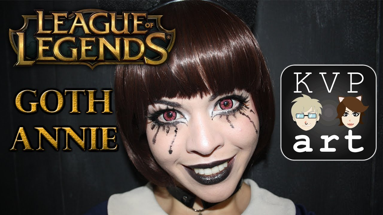 Annie Makeup Goth Version