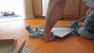 How to cut a  tile in half on a diagonal