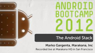 02 - The Android Stack_ Android Bootcamp Series 2012