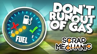 FUEL CAR RACE! GAS TANKS and GAS PUMPS! - Scrap Mechanic Multiplayer Monday Challenge