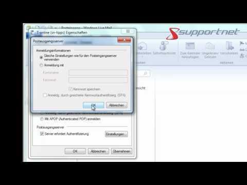 Supportnet Tipp: Erstes E-Mail-Konto bei Windows Live einrichten, am Beispiel t-online.de