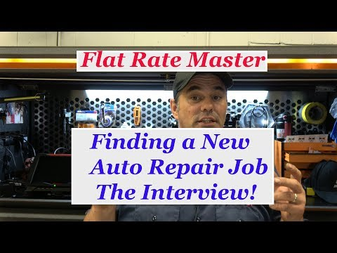 Finding a New Auto Repair Job  The Interview