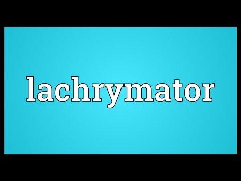 Header of lachrymator