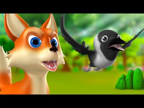 Chalak Lomdi aur Kauwa 3D Animated Hindi Moral Stories for Kids चालक लोमड़ी कौआ कहानी Fox Crow Tales thumbnail