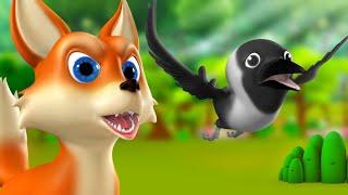 Chalak Lomdi aur Kauwa 3D Animated Hindi Moral Stories for Kids चालक लोमड़ी कौआ कहानी Fox Crow Tales