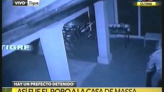 Massa mostró el video del Robo a su Casa