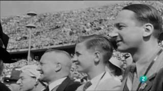 Jesse Owens at the Berlin Olympics in 1936