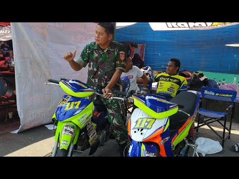 Suasana paddok road race jepara 1 september 2019
