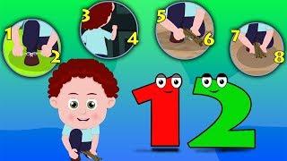 một hai khóa giày của tôi | bài hát cho trẻ em | 123 Song | Nursery Rhymes | One Two Buckle My Shoe
