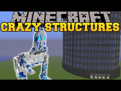 Minecraft: CRAZY STRUCTURES SKYSCRAPERS CAVERNS TREE HOUSES Mod Showcase