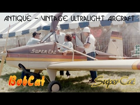 BobCat, SuperCat, antique ultralights, vintage ultralight aircraft by Bobby Baker.