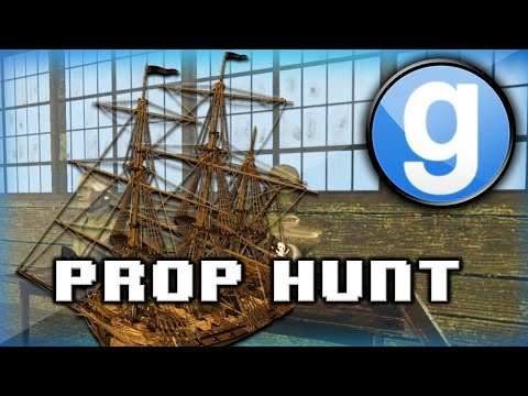 Garry's Mod Prop Hunt Funny Moments - Pirate Ship, Epic Round, Funny Fails, And More! video