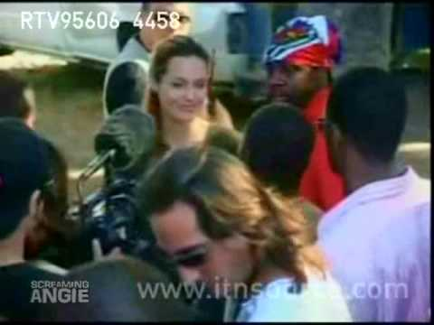 Angelina Jolie and Brad Pitt on a Humanitarian Trip to Haiti