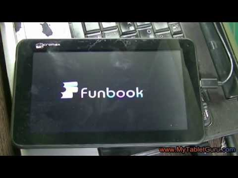 Unlock Micromax Funbook pattern lock using Android Multi tool