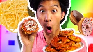 SPAGHETTI DONUTS!!! DIY HOW TO MAKE!!!!
