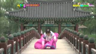 SBS Heroes - Nicole Jung Trips Crossing Bridge (Cute)