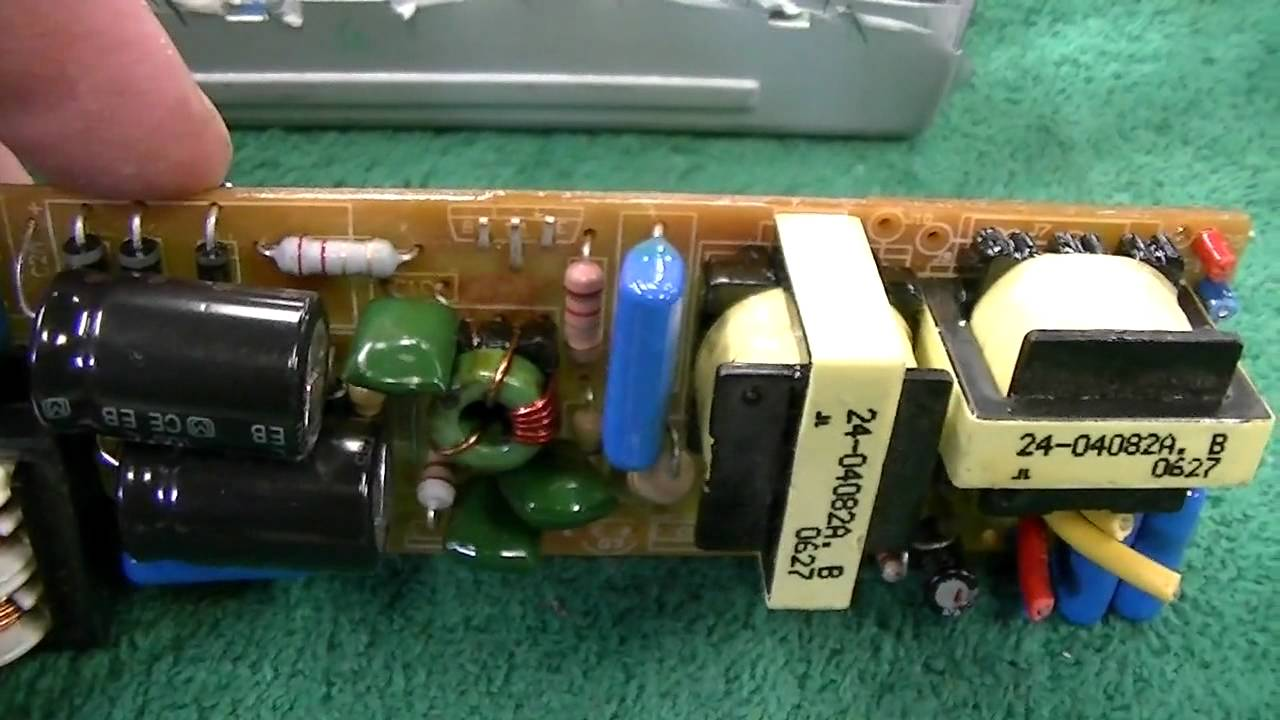 Electronic Fluorescent Light Ballast Disassembly And Brief