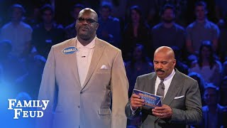 Shaq and Charles Barkley's EPIC Fast Money! | Celebrity Family Feud