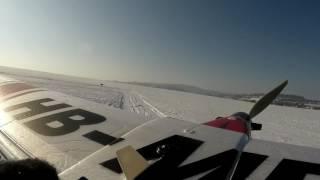 Ladovská zima na mod. letišti v Rosicích...