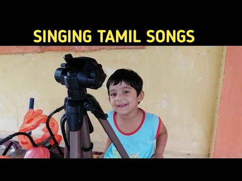 Singining Tamil Songs with Tripod II Toddler II Funny Kids II KIds Time II Crazy sisters