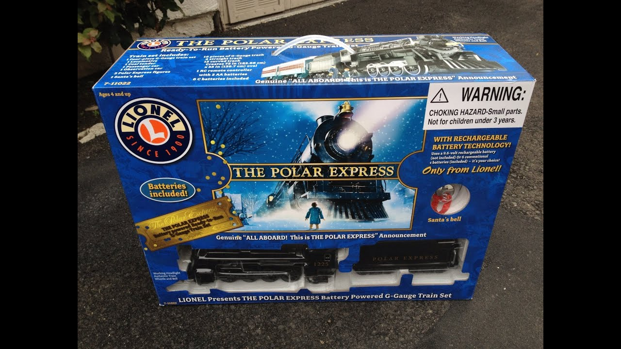 The Polar Express Lionel G Gauge Scale Battery Train - Under the ...