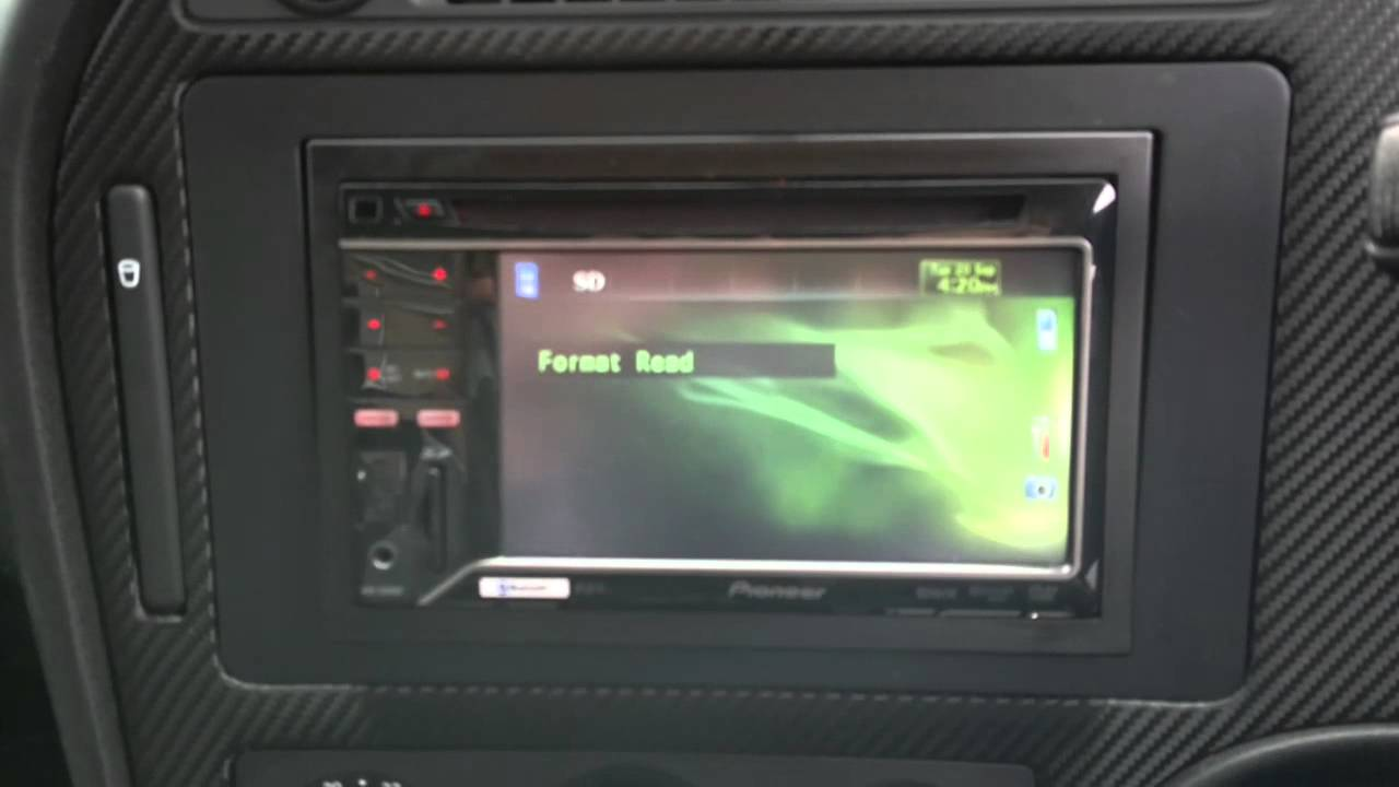 saab   carbon fibre panel  pioneer double din youtube