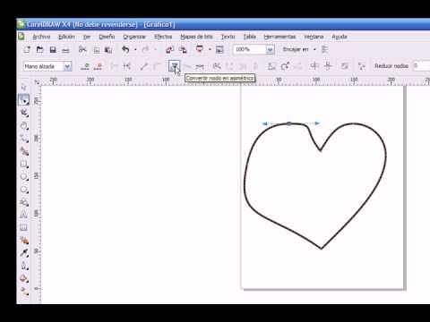 Corel Draw X4 Paso a Paso (Herramienta Forma, Convertir a Curvas, Nodos)