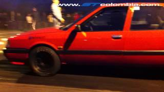 Renault 21 Turbo, Arrancada con Slicks