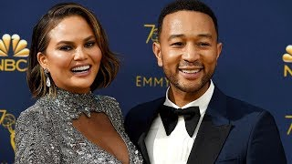 Chrissy Tiegan takes a shot on the Emmys red carpet