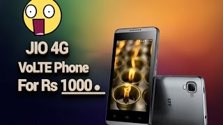 Jio Launching Rs 1000 LYF Phone with 4G VoLTE | January 2017