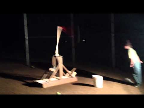 Pilgrim Christian School Science Fair: Travis' Trebuchet