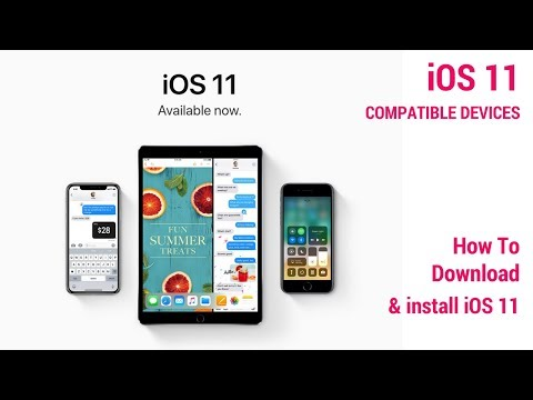 How To Install iOS 11? |  iOS Compatible Device List ( In Hindi)