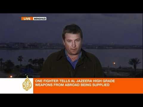 Libyan rebels receiving