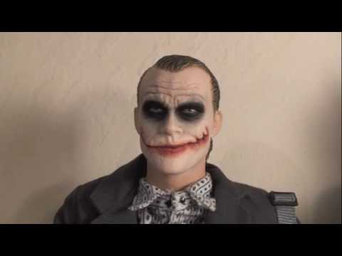 The Dark Knight Hot Toys Bank Robber Joker 1/6 Scale Movie Masterpiece Figure Review