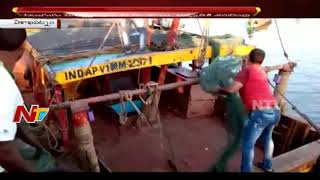 Boat Catches Fire at Visakhapatnam Fishing Harbour