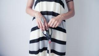 DIY maxi tent dress - FASHION TUTORIAL