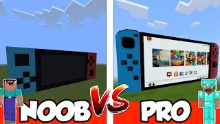 NOOB vs PRO: NINTENDO SWITCH in Minecraft PE | MCPE Journalist