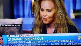21 Savage deportation interview GMA