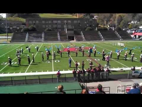 Swain County High School Marching Band Papertown Band Festival 2014