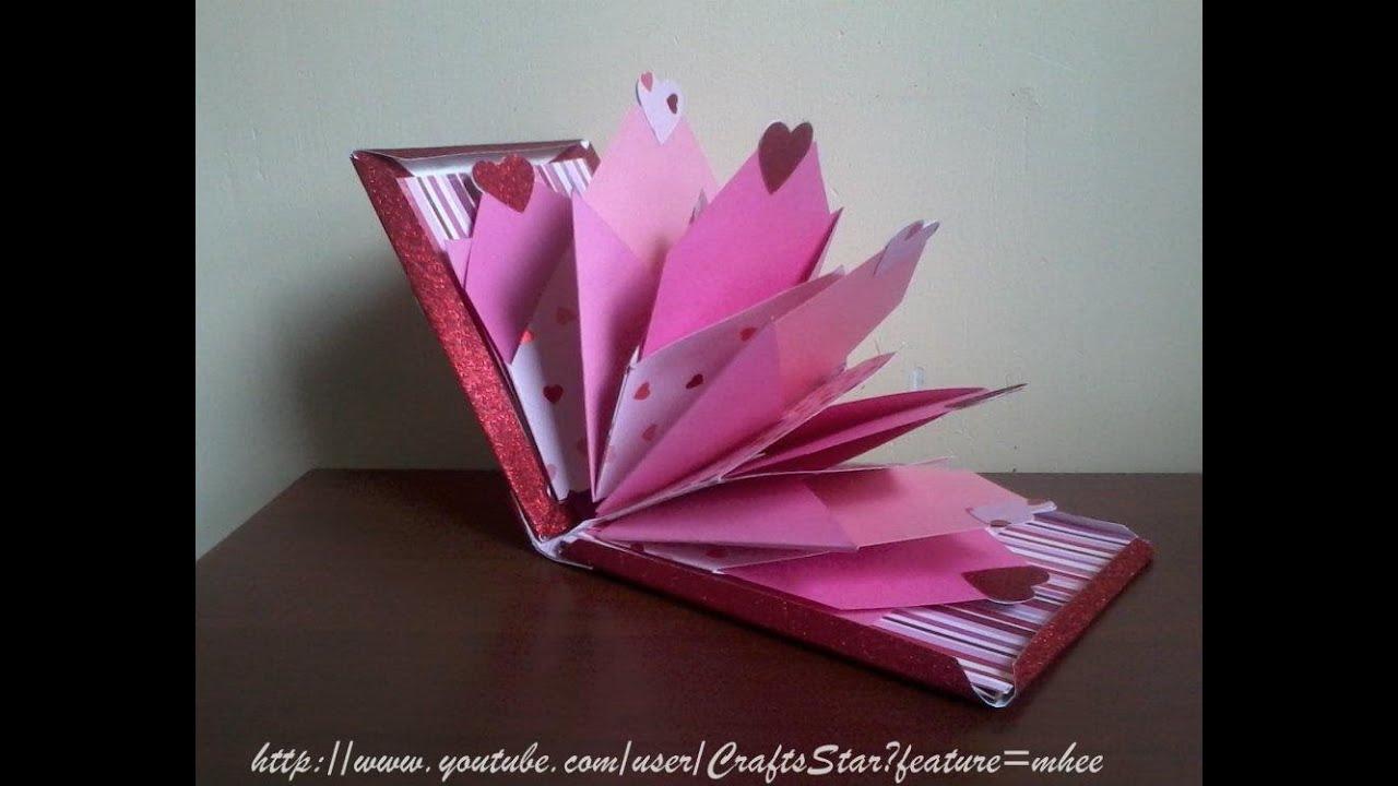 Mini album scrapbook manualidades para san valentin - Album para san valentin ...