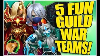 SUMMONERS WAR : 5 Fun GUILD WAR Teams! (ft. Bagir, Baleygr, Susano, and more!)