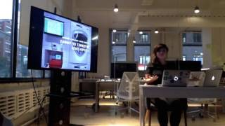 Connie Leung at Civic Tech Toronto hacknight, Sep 22 2015