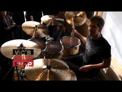 Chad Wackerman at Vics Drum Shop.m4v