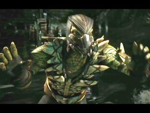 новая игра Mortal Kombat X (2015) Рептилия(геймплей)